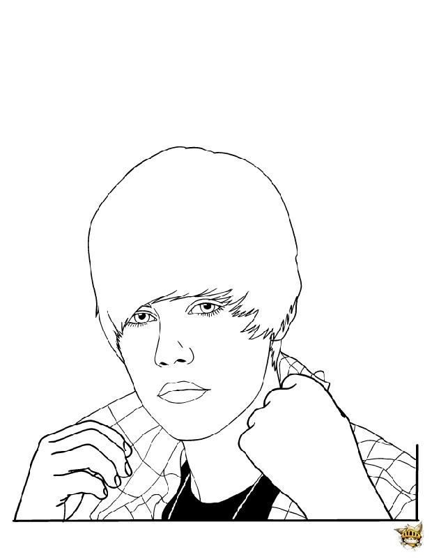 Justin remet son col est un coloriage de justin bieber - Coloriage de justin bieber ...