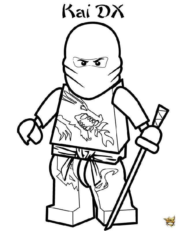 Kai dx est un coloriage de ninjago - Coloriage ninjago gratuit ...
