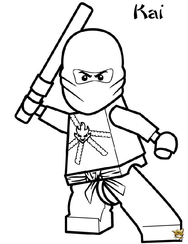 Kai Ninjago est un coloriage de Ninjago