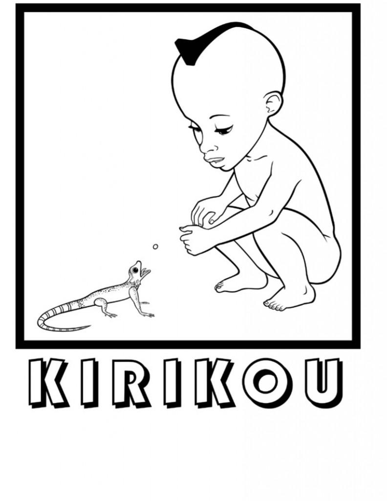 Kirikou Et Le Lezard Est Un Coloriage A Imprimer