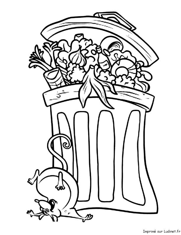 La poubelle de ratatouille est un coloriage de ratatouille - Dessin de poubelle ...