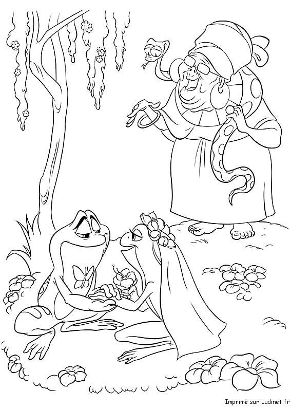 Coloriage Princesse Mariage.La Mariage De Tiana Et De Naveen Est Un Coloriage De La