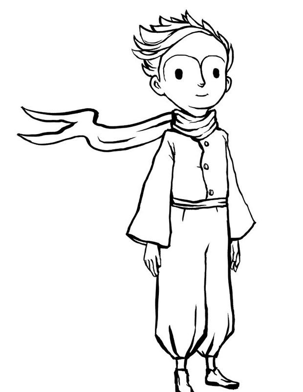 Le petit prince est un coloriage imprimer - Coloriage renard petit prince ...