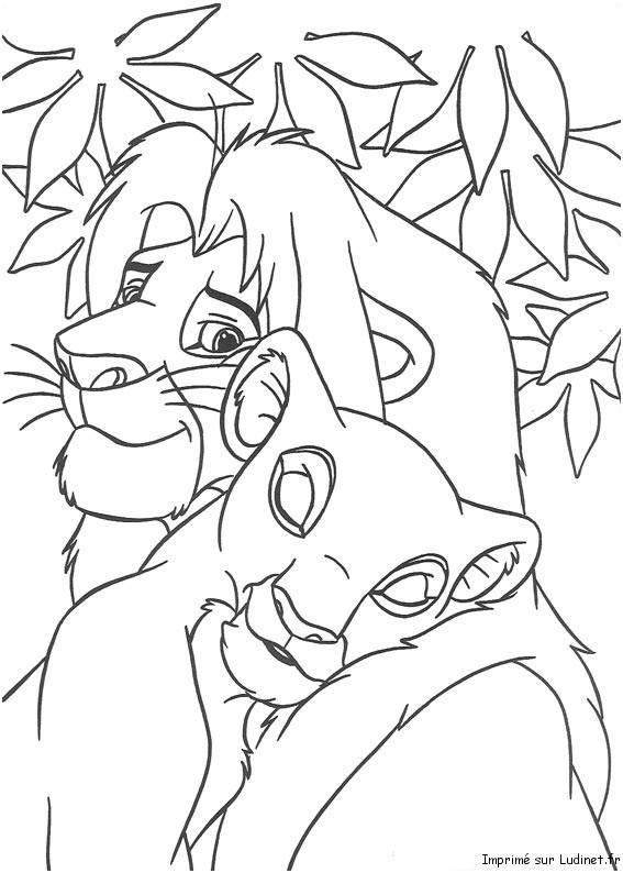 Simba et nala retrouvailles est un coloriage du roi lion - Dessin simba roi lion ...