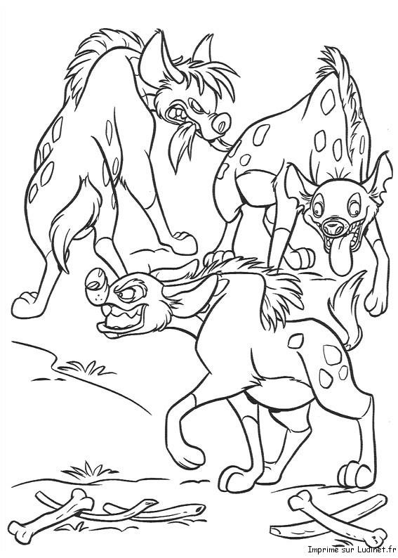 Les Hyènes Jouent Est Un Coloriage Du Roi Lion
