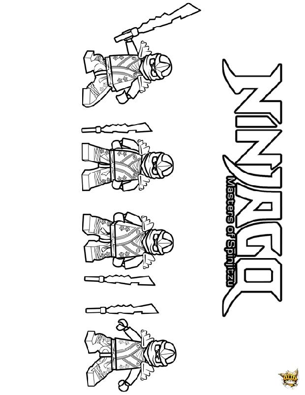 Les Ninjago est un coloriage de Ninjago