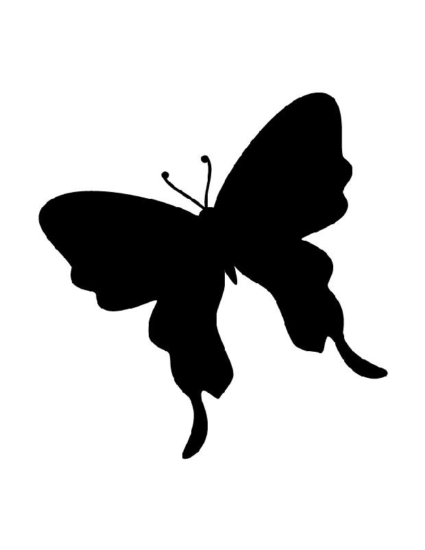 Magnifique papillon est une silhouette imprimer - Silhouette papillon imprimer ...
