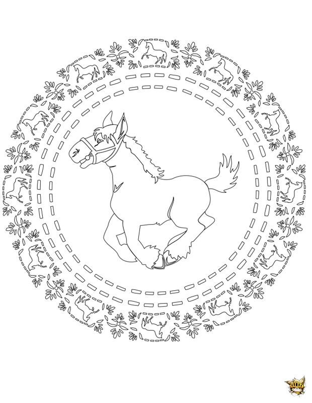 Coloriage poney mandala sur - Coloriage poney en ligne ...