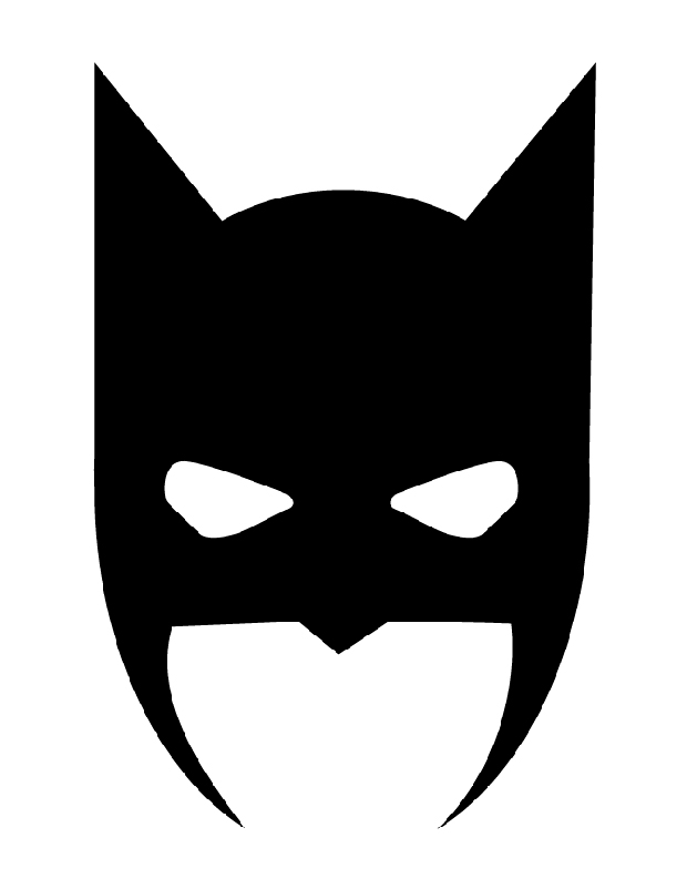 Masque de batman est une silhouette de batman for Batman face mask template