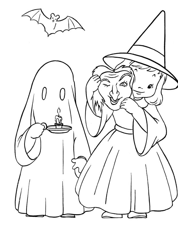 Masque D Halloween Est Un Coloriage D Halloween