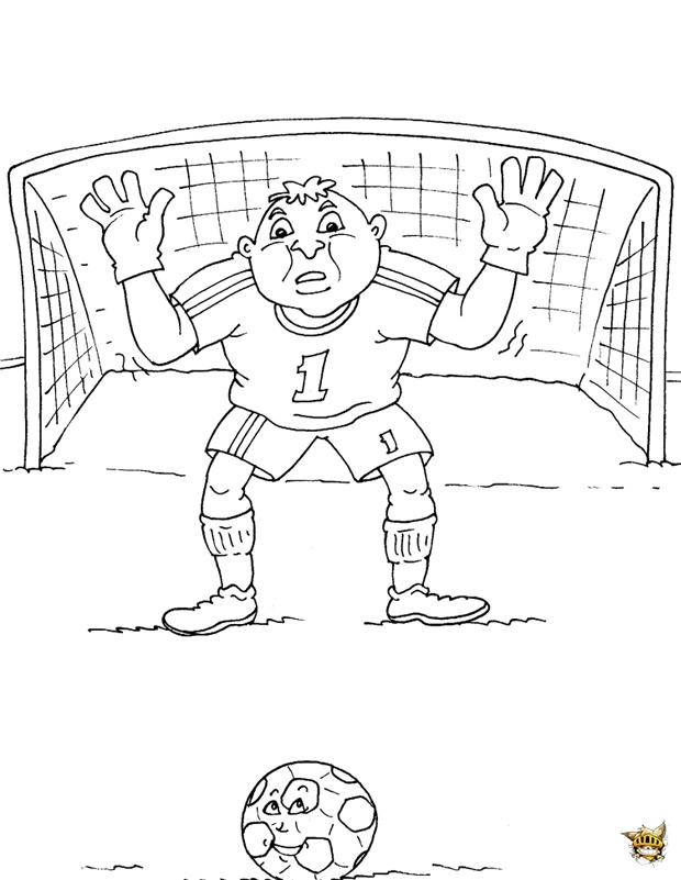 Coloriage du meilleur gardien de football imprimer - Gardien de but dessin ...