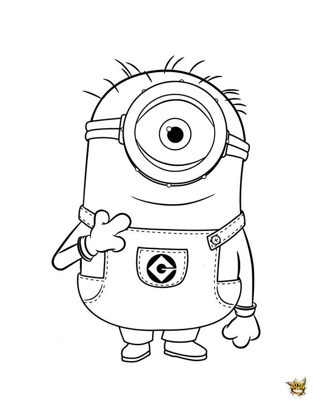 Carl est un coloriage de minions - Minion a imprimer ...