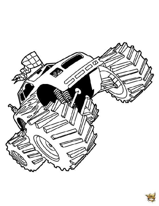 Monster Jam Est Un Coloriage De Monster Truck