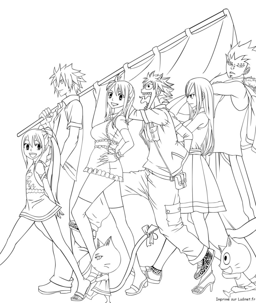 Nassau parade est un coloriage de fairy tail - Dessin anime de fairy tail ...