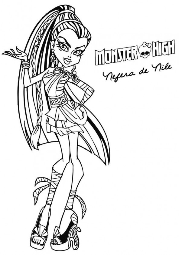 Nefera de nile est un coloriage de monster high - Coloriage monster high baby ...