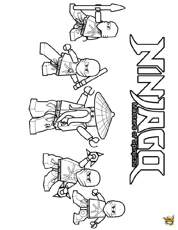 Ninja team est un coloriage de ninjago - Dessin de ninjago a imprimer ...