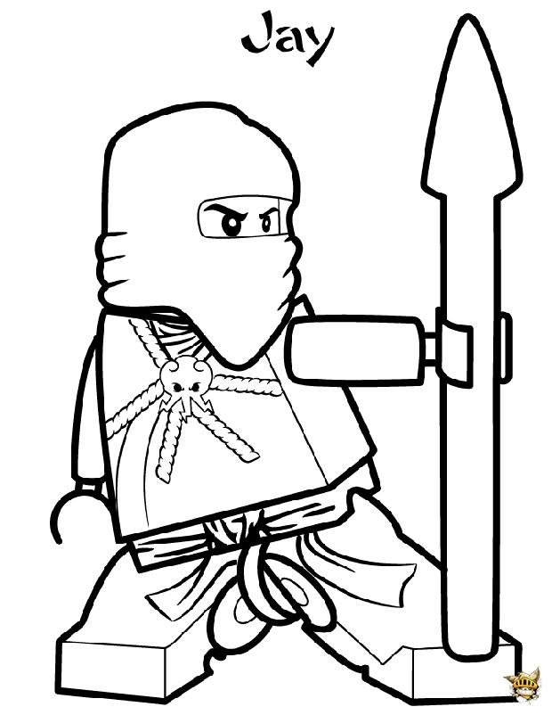 coloriage a imprimer ninjago jay