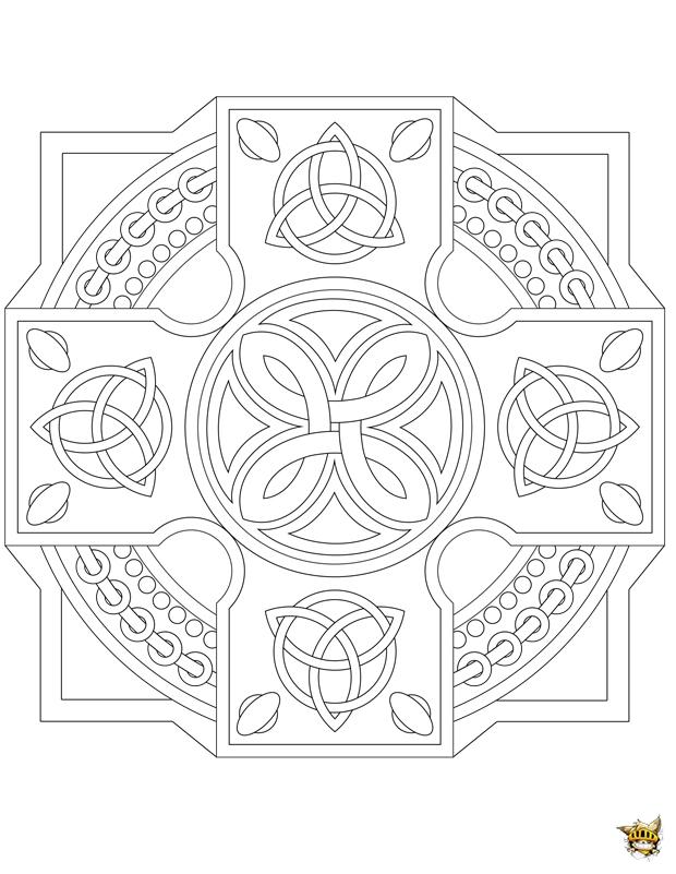 Coloriage Noeud Celtique Mandala