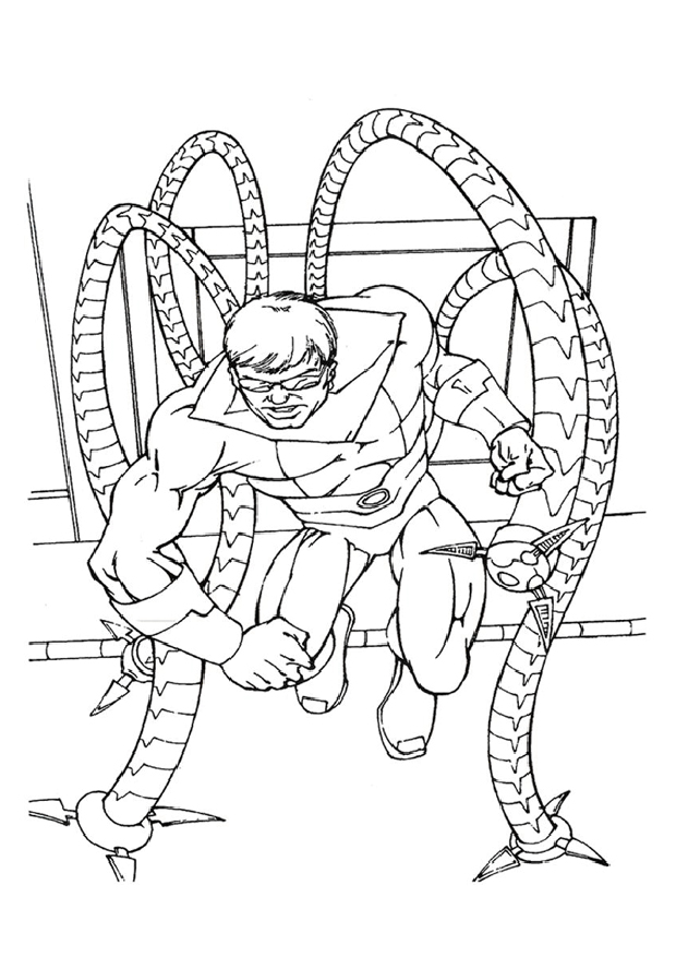 Octopus est un coloriage de spiderman - Dessin a imprimer de spiderman ...