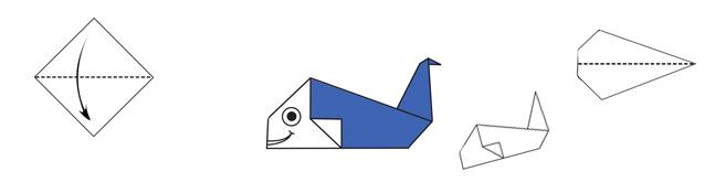 Origami baleine une