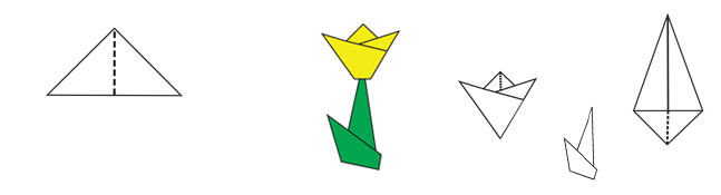 Origami tulipe une