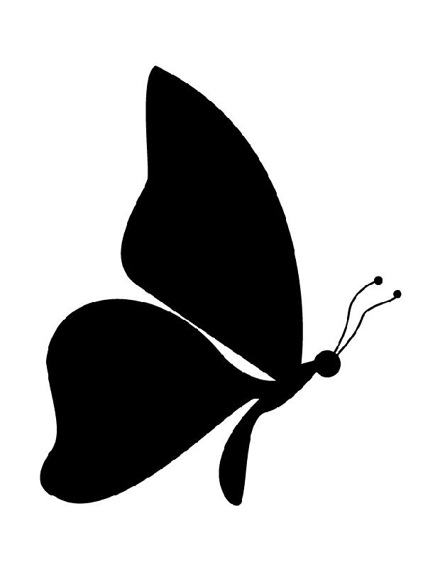 papillon de profil est une silhouette imprimer. Black Bedroom Furniture Sets. Home Design Ideas
