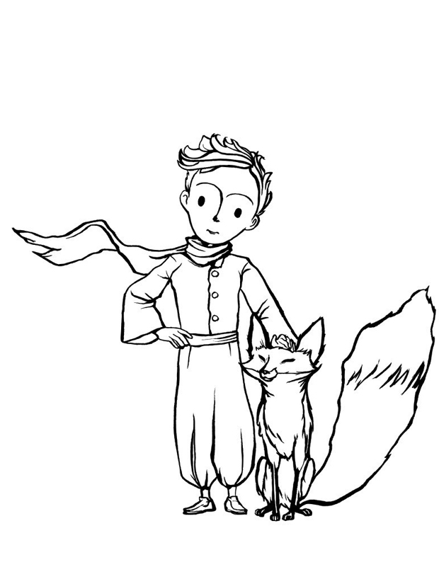 Favori Le petit prince et son renard est un coloriage à imprimer NT77
