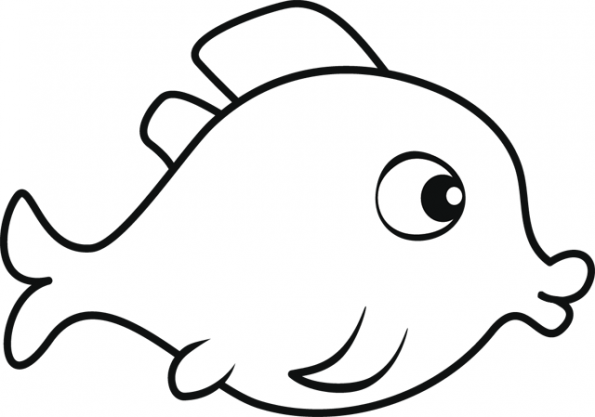 Coloriage poisson d 39 avril poisson bouche - Poisson coloriage ...
