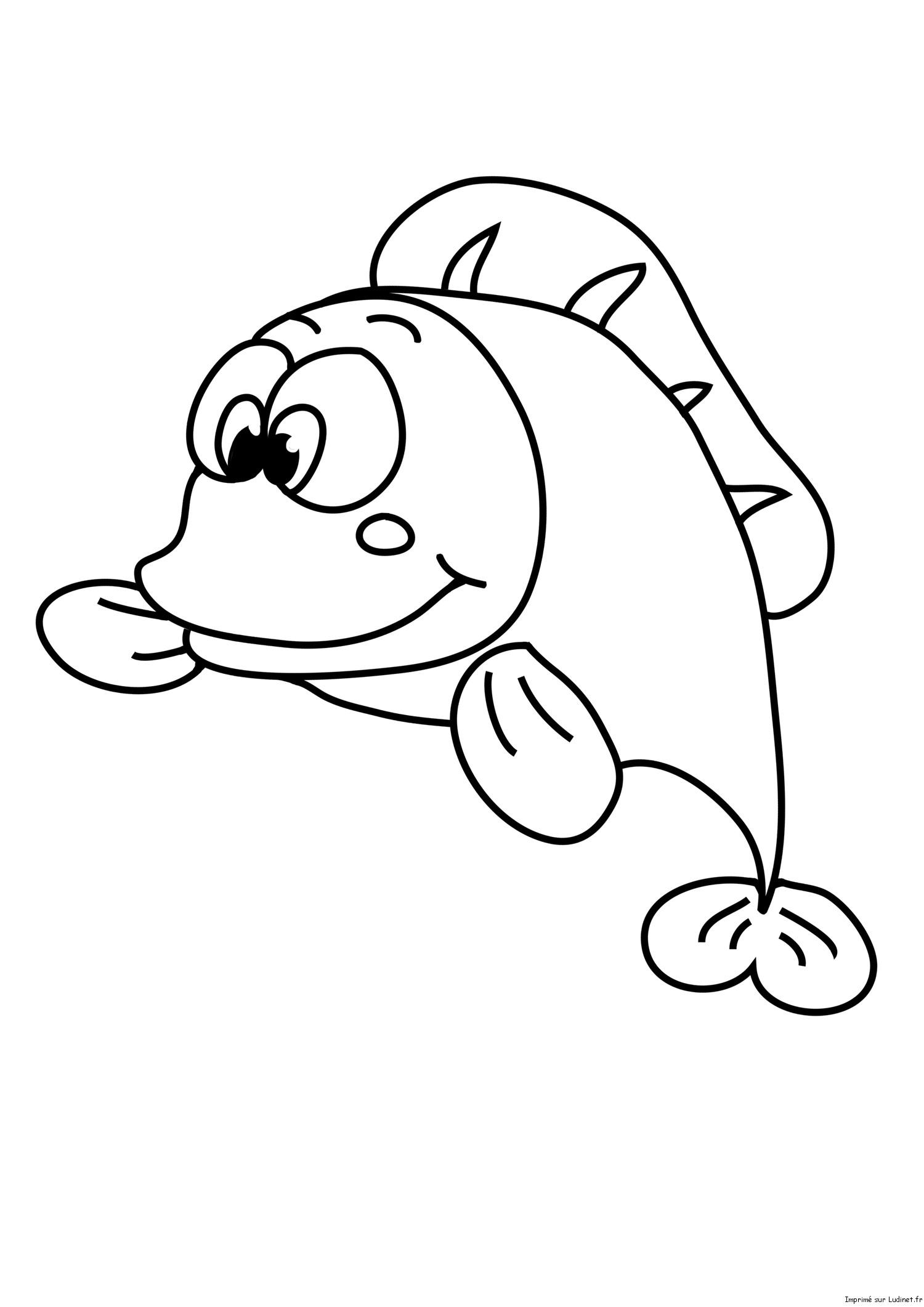 Coloriage poisson d 39 avril poisson gros - Coloriage de poisson ...