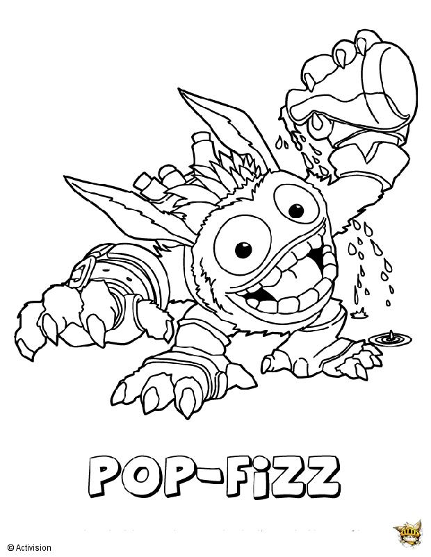 Pop fizz dr le est un coloriage de skylanders for Skylanders imaginators coloring pages