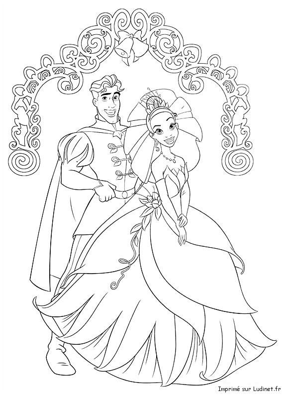 Portrait De Mariage Est Un Coloriage De La Princesse Et La