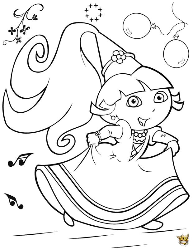Princesse Dora Est Un Coloriage De Dora L Exploratrice