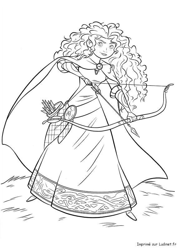 Princesse merida est un coloriage de rebelle - Coloriage de rebelle ...