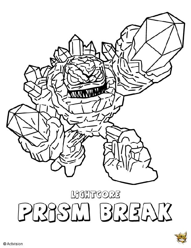 Prise break attaque est un coloriage de skylanders - Coloriage skylanders giants ...