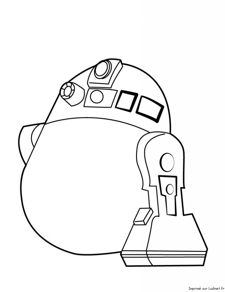 R2d2 - Dessin a colorier angry bird ...