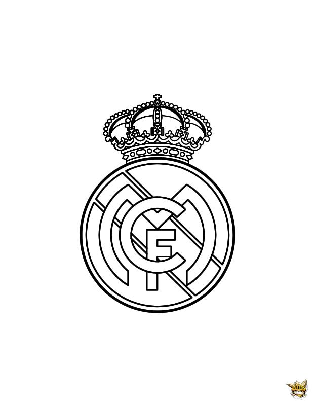 Coloriage Du Real Madrid Ecusson Du Club A Imprimer