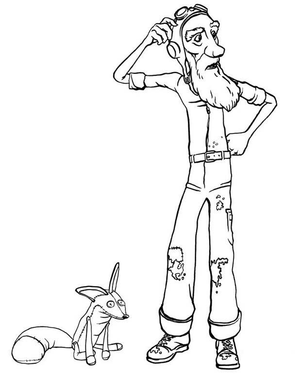 Favori Le renard et l'aviateur est un coloriage du petit prince à imprimer NT77