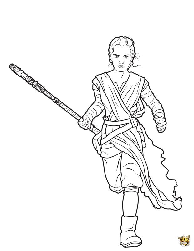Rey est un coloriage de star wars - Coloriage star wars 3 ...