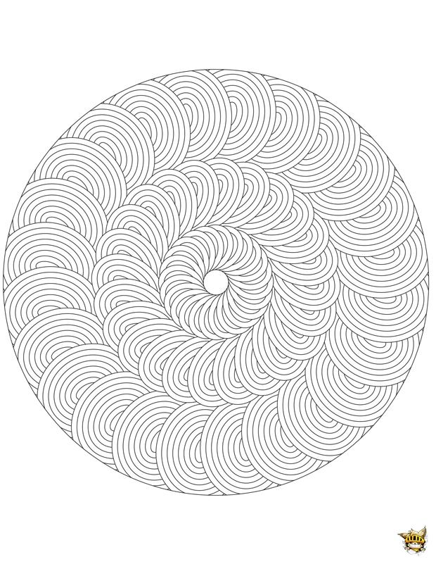 Coloriage Adulte Spirale.Coloriage Rosace Adultes Mandala