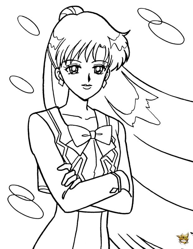 Sailor pluto est un coloriage de sailor moon - Coloriage sailor moon ...