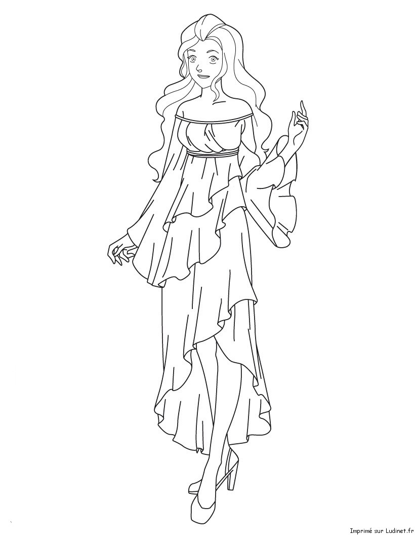 Sam en robe de mari e est un coloriage des totally spies - Coloriage de mariee ...