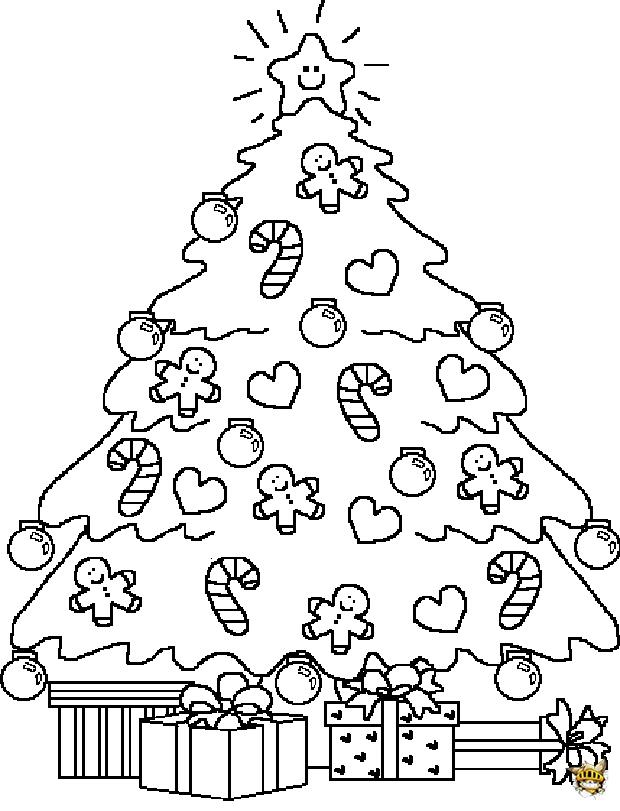 Sapin à Colorier Est Un Coloriage De Noel
