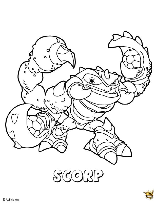Scorp est un coloriage de skylanders - Dessin de skylanders ...