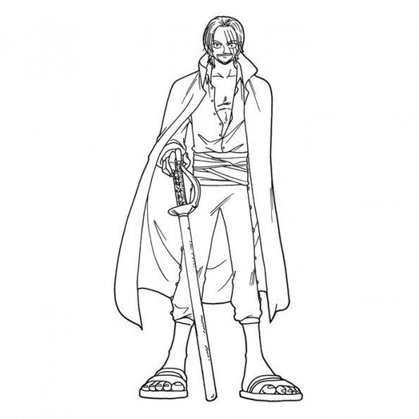Shanks le roux est un coloriage de one piece - Coloriage one peace ...