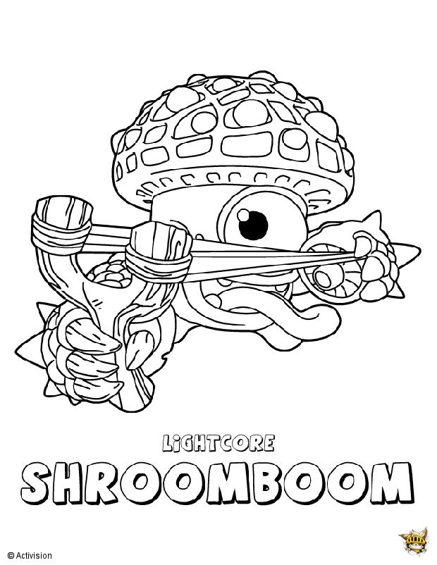 Shroomboom est un coloriage de skylanders - Dessin de skylanders ...