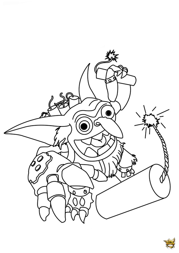 skylanders chompy coloring pages - photo#24