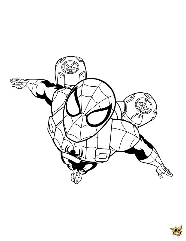 Spiderman a rien est un coloriage de ultimate spiderman - Jeux de spiderman coloriage ...
