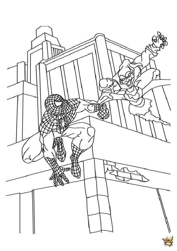 Spiderman vs bouffon vert est un coloriage de spiderman - Bouffon vert coloriage ...