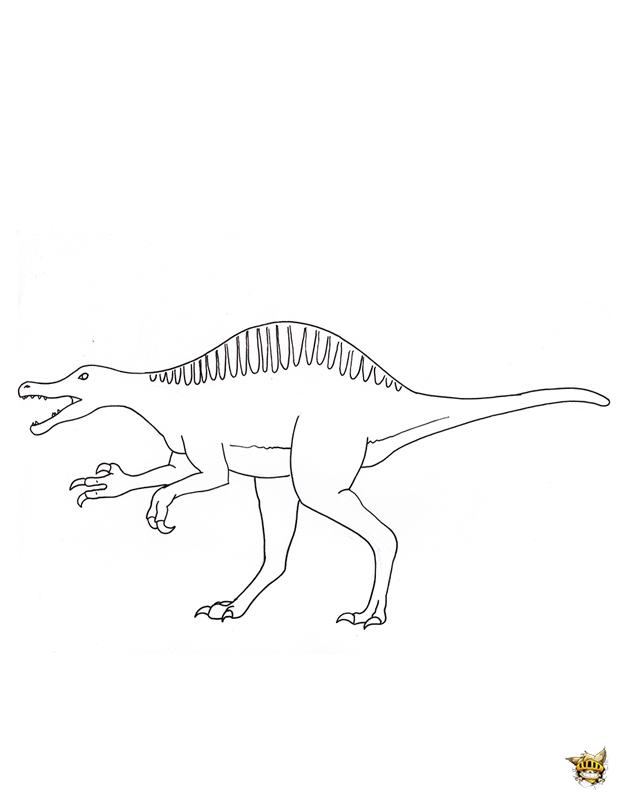 Coloriage A Imprimer Dinosaure Spinosaurus.Spinosaurus Est Un Coloriage De Dinosaures A Imprimer