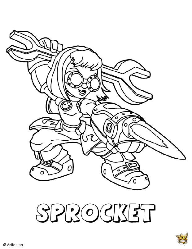 Sprocket attaque est un coloriage de skylanders - Coloriage skylanders giants ...
